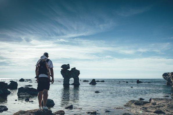Mystische Felsformationen an der Küste von Fårö