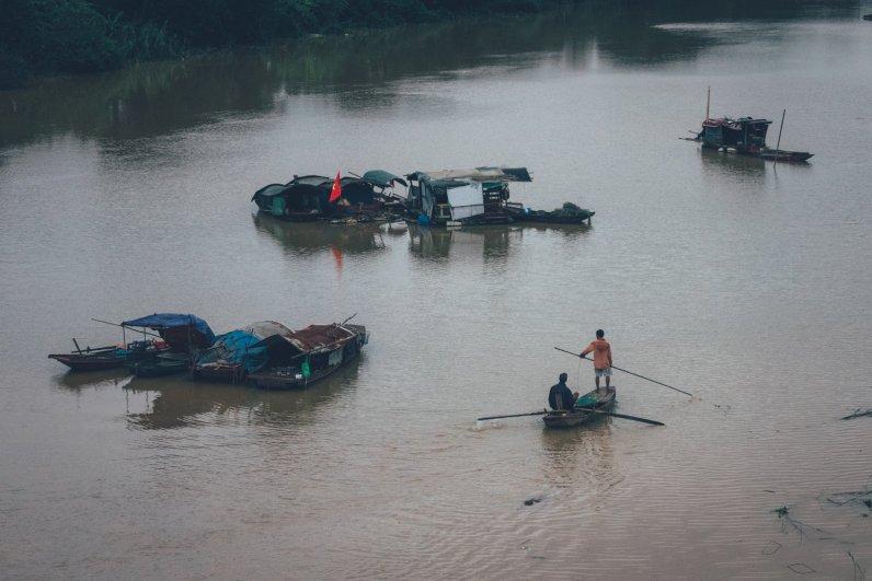 Elektrofischen auf dem Red River