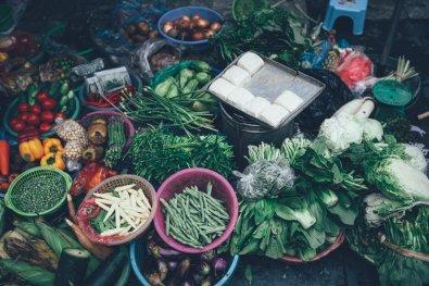 Ernte frisches Gemüse