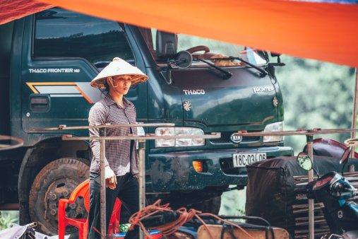 Bauern auf dem Coc Ly Markt
