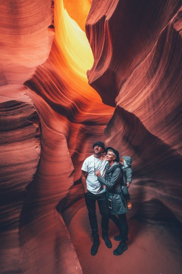Unsere Familie im Antelope Canyon