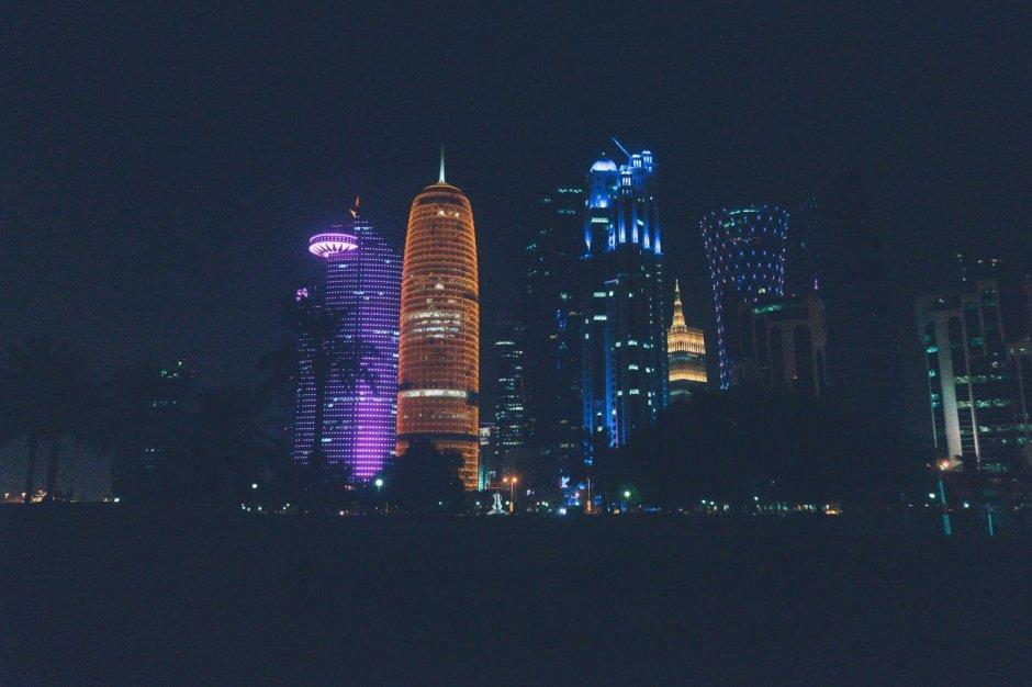 Doha bei Nacht