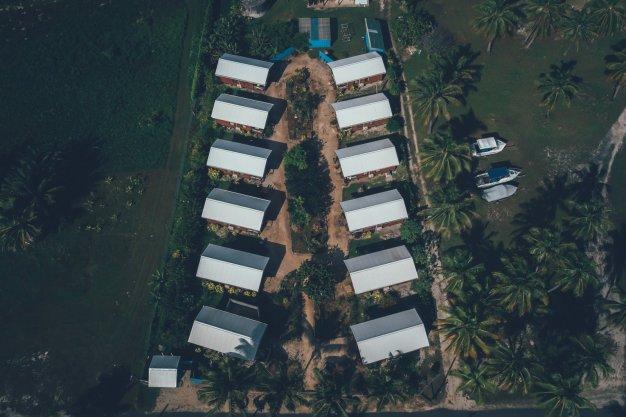 Aitutaki Village von oben