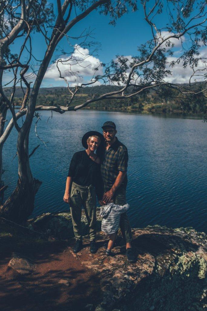 Unsere Familie auf der Curringa Farm - Tasmanien