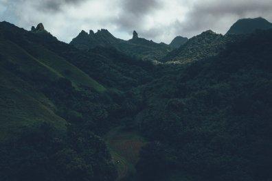 Gebirge auf der Hauptinsel Rarotonga