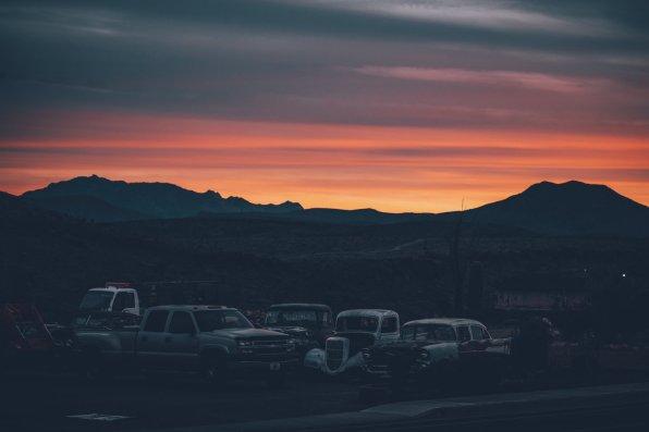 Sonnenuntergang an der Route 66