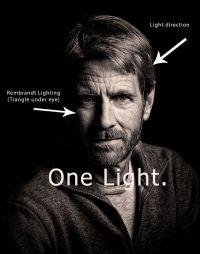 Rembrandt lighting Tuto. | Rembrandt lighting | Pinterest