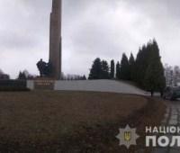 У Ривне осквернили монумент Вечной Славы