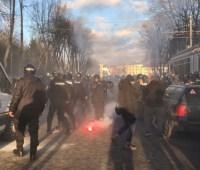 Нацкорпус в Виннице: полиция задержала трех участников протеста