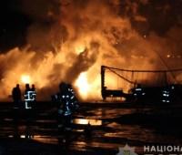 Пожар в Кропивницком: четверо людей пострадали, сгорело 18 авто