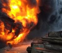 Пожар в Новой Каховке тушили почти одиннадцать часов