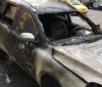 В Днепре сожгли автомобиль главреда местной газеты