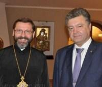Порошенко поздравил главу УГКЦ с днем рождения
