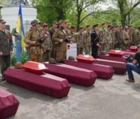 В Донецкой области перезахоронили останки 158 воинов Второй мировой