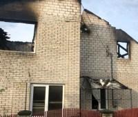 Молния сожгла дом полицейского на Ривненщине