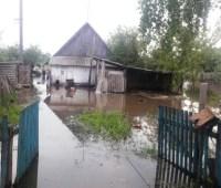 На Житомирщине из-за дождей затопило дорогу