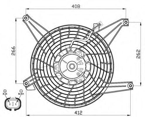 Вентилятор охлаждения двигателя на Mitsubishi Pajero