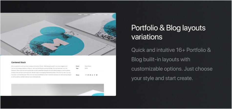 Portfolio and blog templates