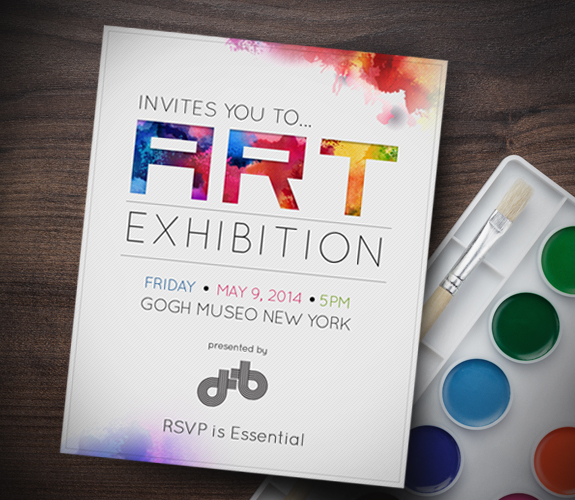 Art gallery invitation card inviview invitation template for art exhibition images sample stopboris Gallery