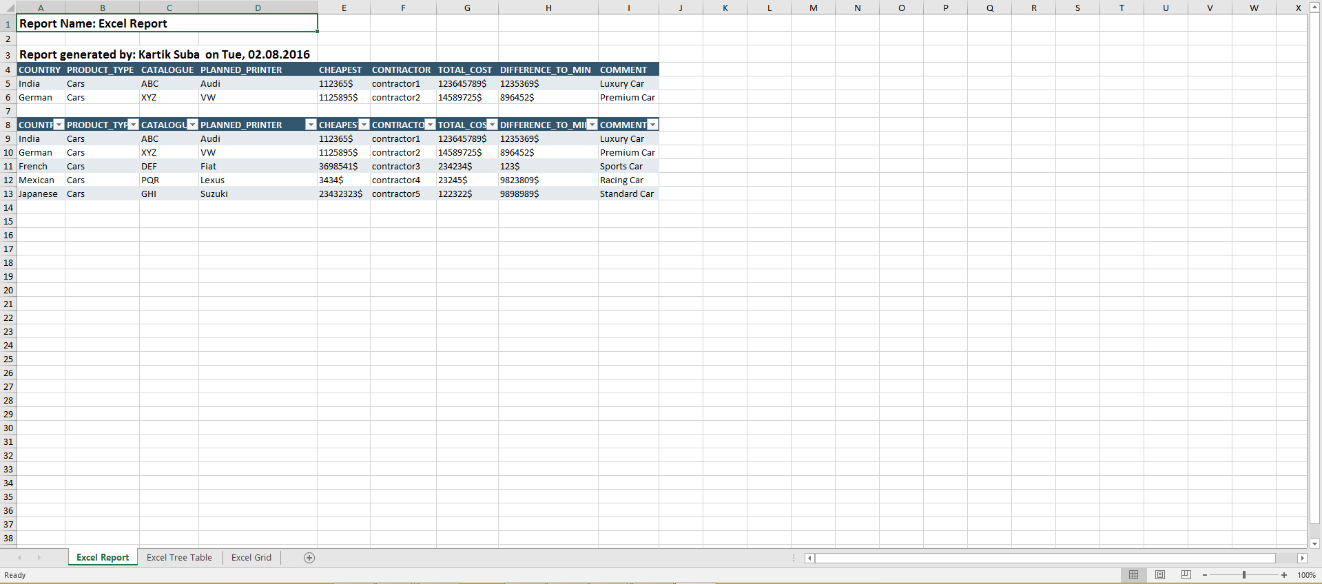 Worksheet Add Header