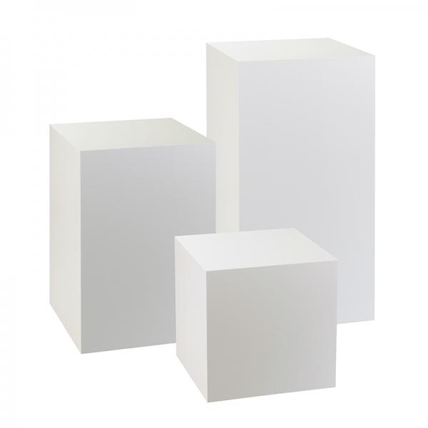 White Acrylic Exhibition Display Plinths  Perspex Plinth UK