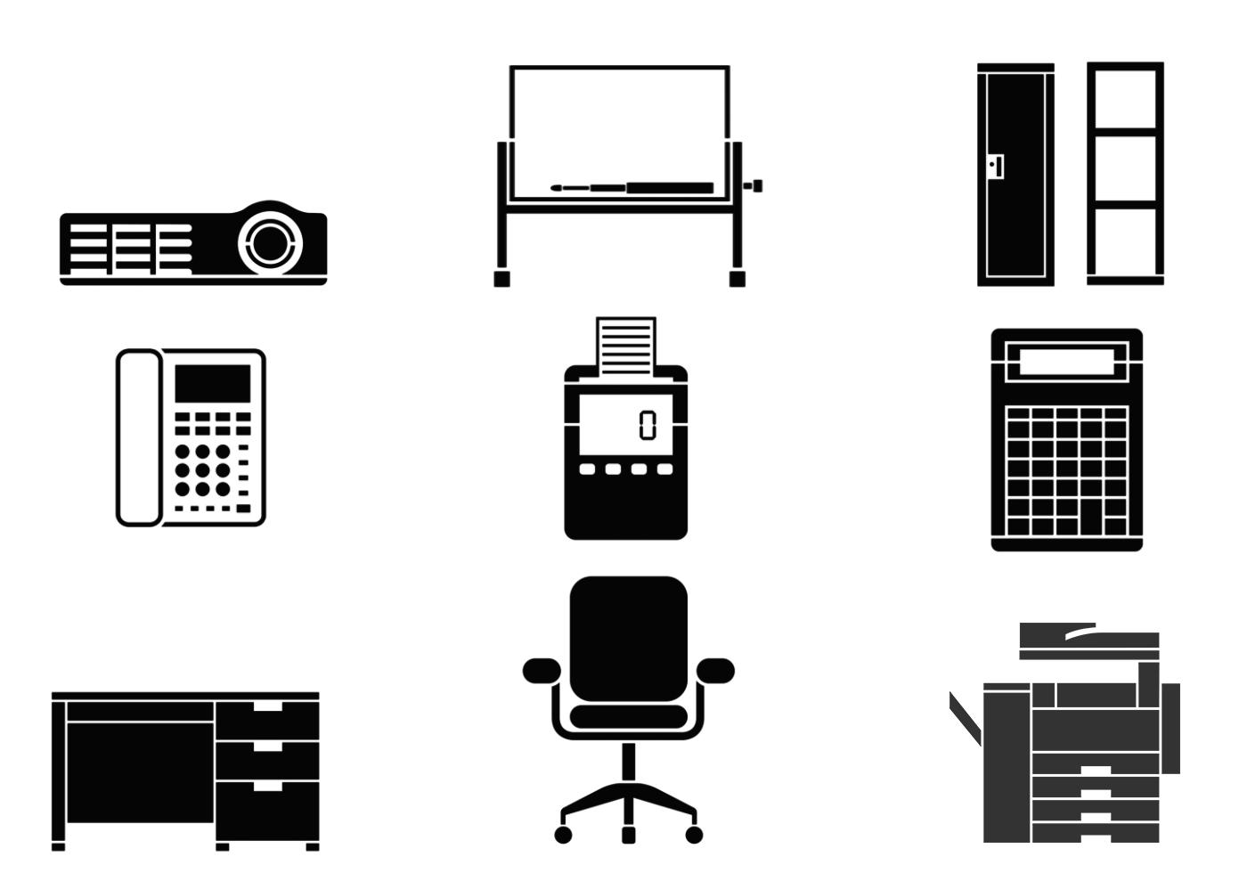 Office Equipment: Office Equipment Vector