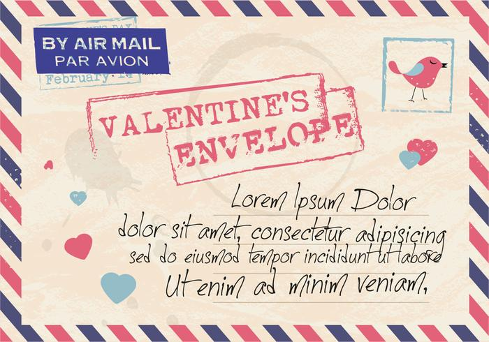 Valentines Envelope Mail Vector Download Free Vector