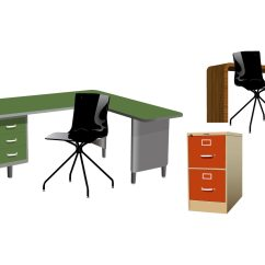 Office Chair Vector Recliner Stool Furniture Download Free Art Stock