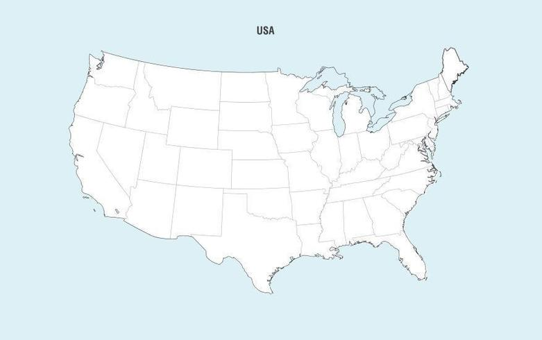 united states map vector