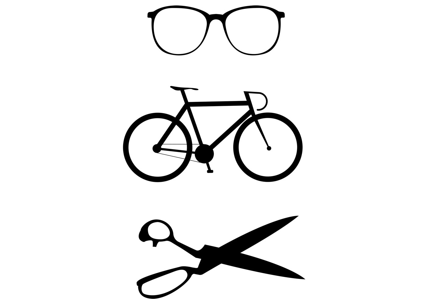 Art Bicycle Silhouette Border Clip
