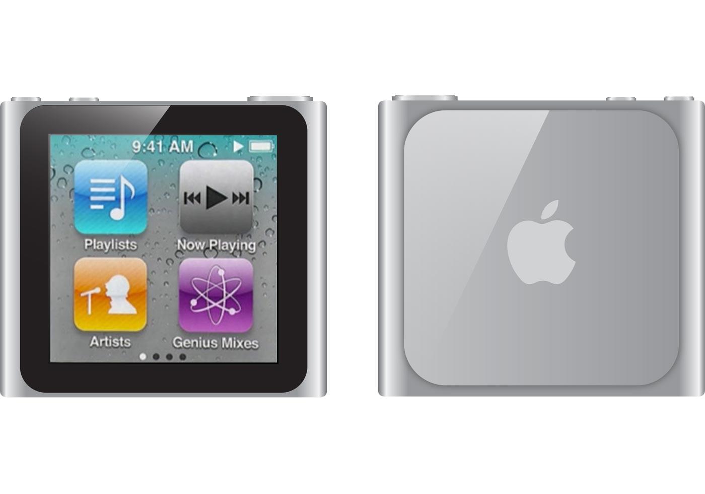 iPod nano Free Vector  Download Free Vector Art Stock
