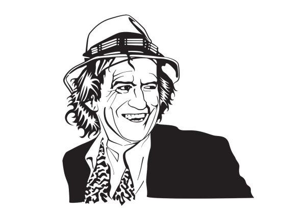 Keith Richards Vector Portrait - Free Art