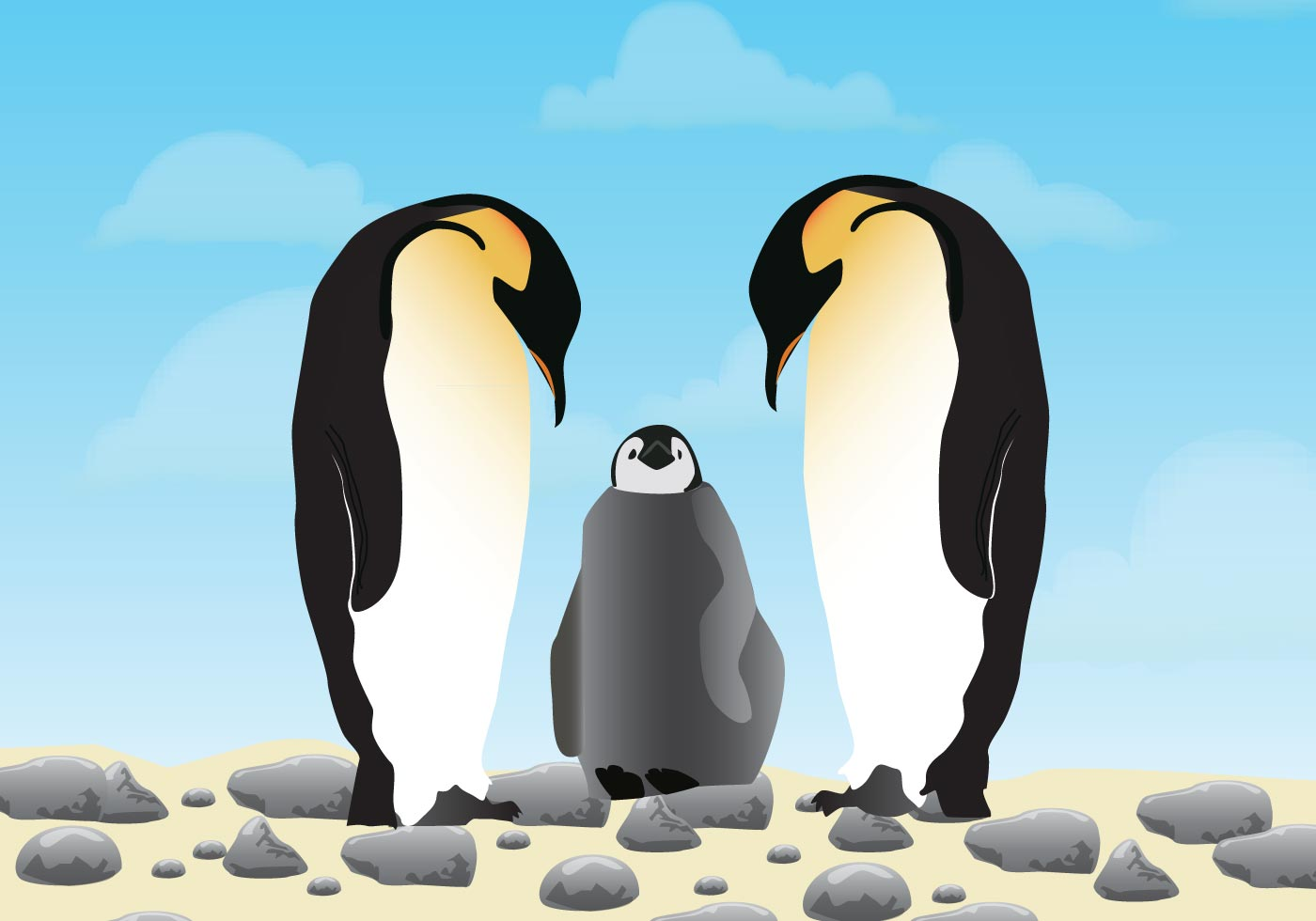 Cute Couple Cartoon Wallpaper Download Penguins In Love Download Free Vector Art Stock