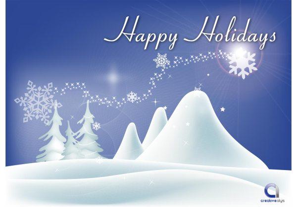 Vector Happy Holidays Wallpaper - Free Art
