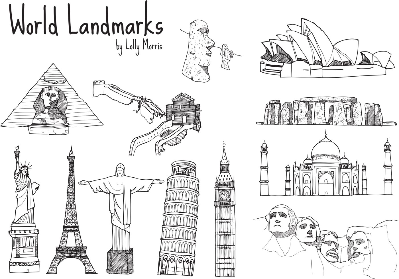 7 Wonders Of The World Coloring Pages