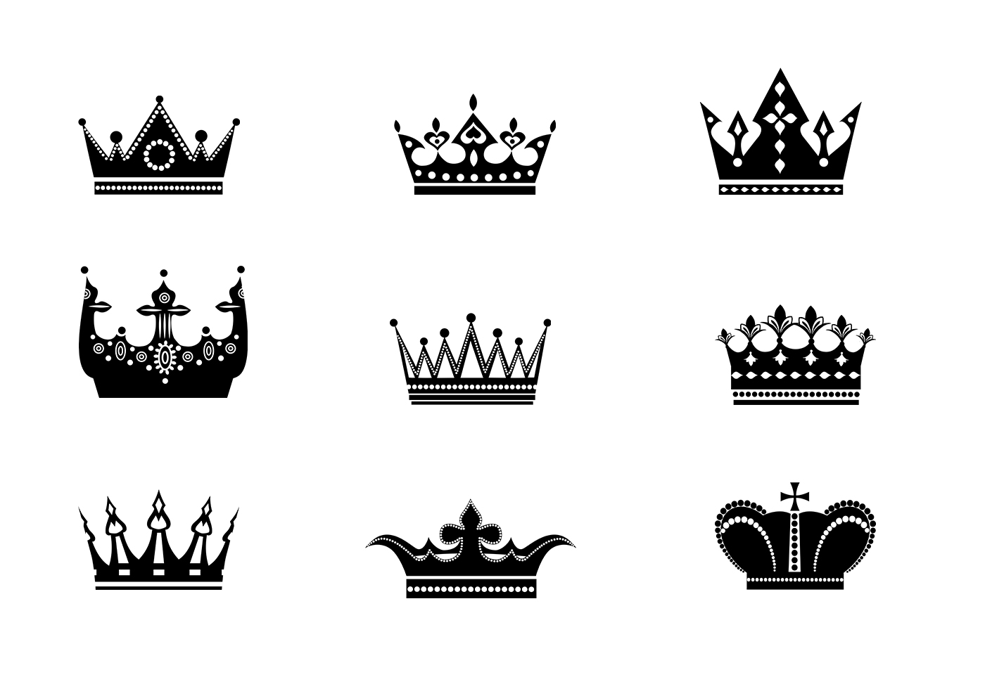 9 Crowns Vector Pack Two