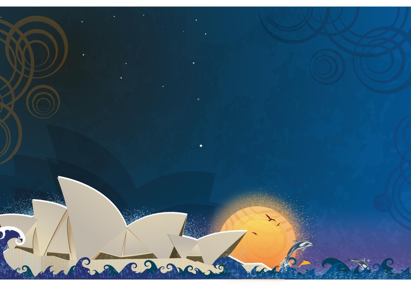 Cute Nautical Wallpaper Sydney Opera House Theatre Download Free Vector Art