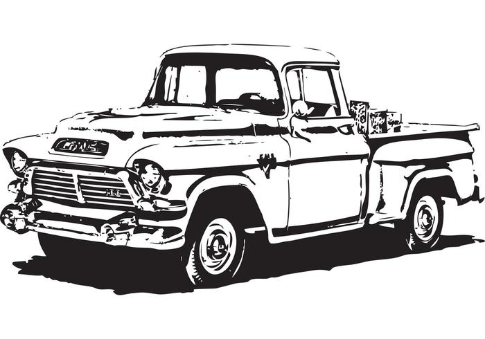 Free 1950's GMC Pick-Up Vector