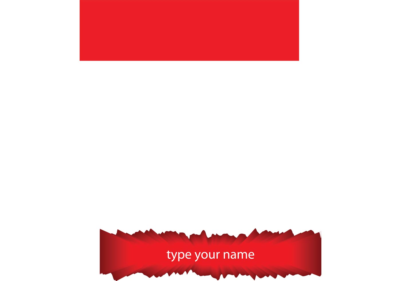 Free Name Board Vector