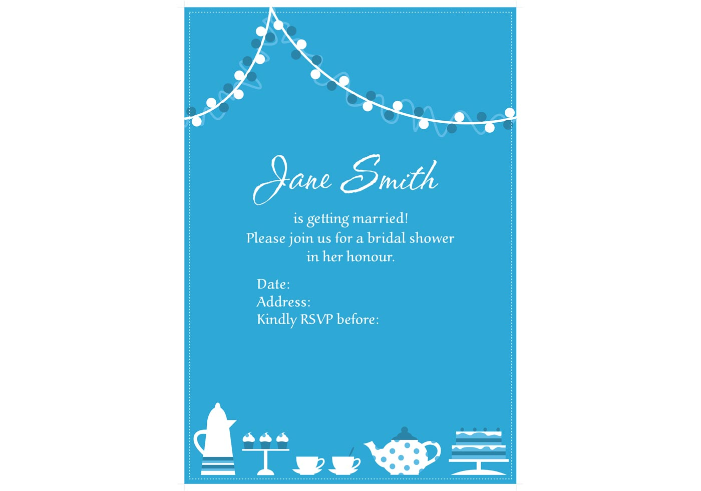 baby invitation template