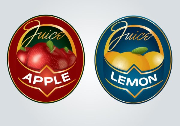 Juice Label Logo - Free Vector Art Stock