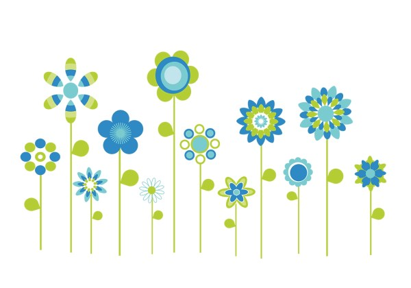 Stylized Flowers Vector Pack Download Free Vector Art