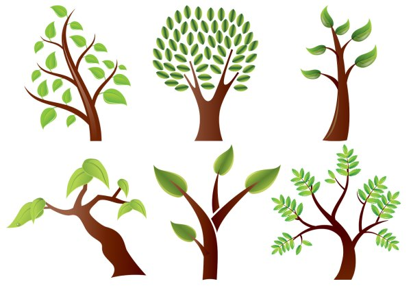 Stylized Trees Vector Pack - Free Vectors