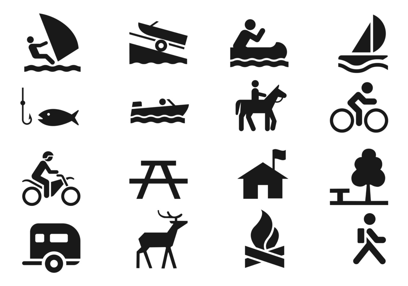 Recreation Icons Vector Pack