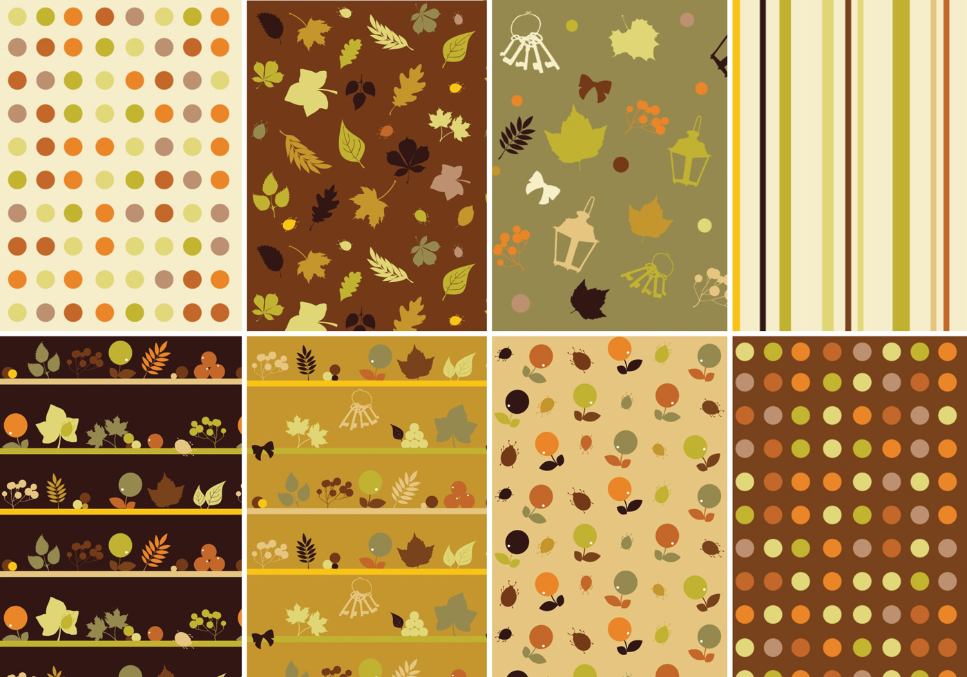 Maple Leaf Wallpaper For Fall Season Warm Fall Vector Pattern Pack Download Free Vectors