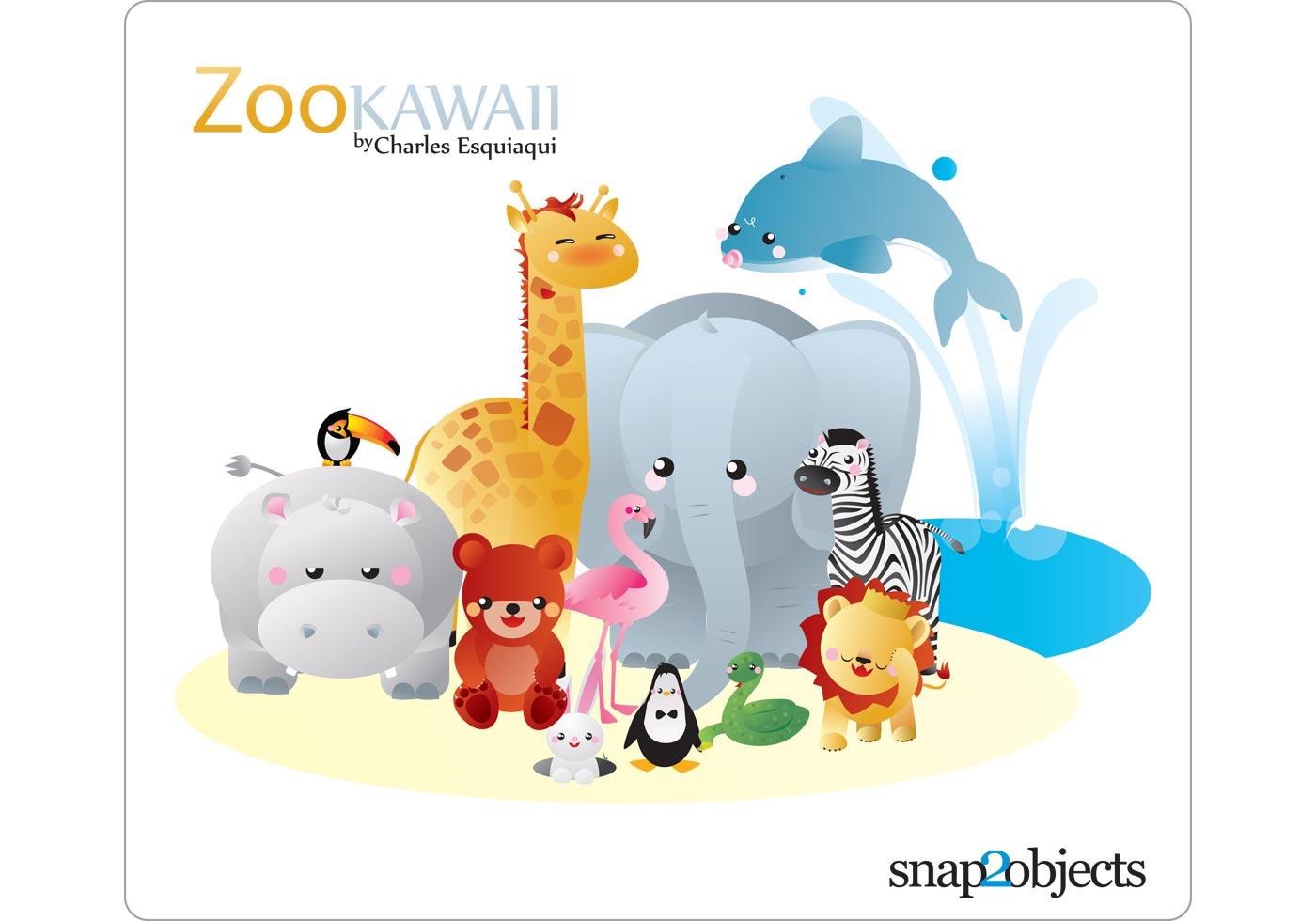 Cute Cartoon Giraffe Wallpaper Free Kawaii Zoo Vector