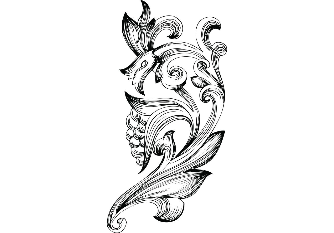 Filigree Tattoo Vintage