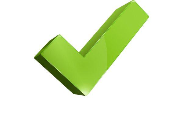 3D Green Check Mark