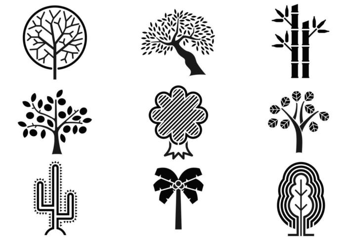 abstract tree vector pack