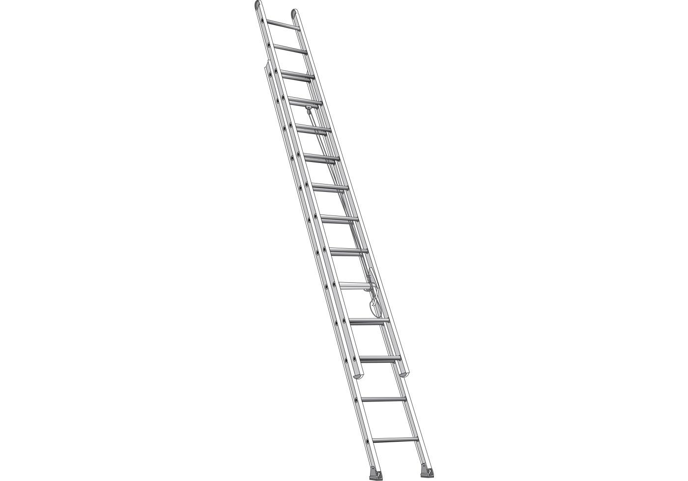 Free Vector Extending Ladder Illustration